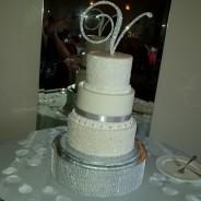 Bling Italian Wedding Cake