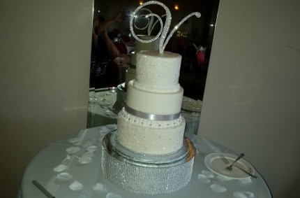 Bling Italian Wedding Cake