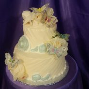 Butterflies and Roses Cake