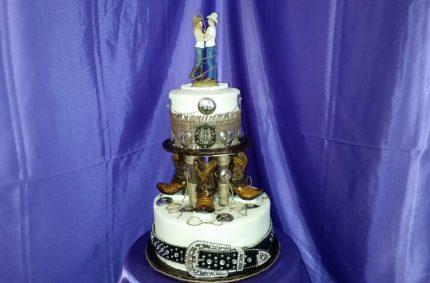 Cowboy Wedding Cake