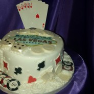 Eggless Las Vegas Cake