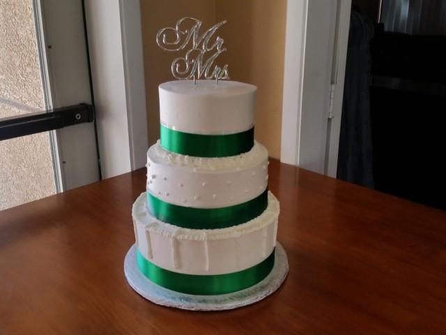 Emerald Green Wedding Cake