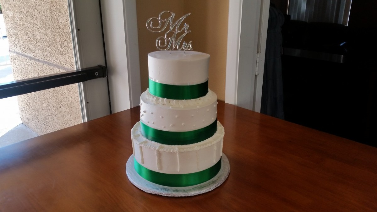 Emerald Green Wedding Cake