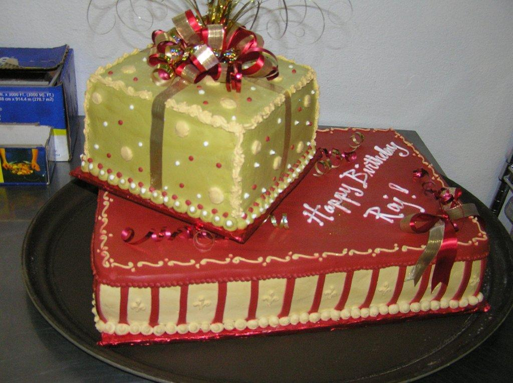 Birthday Cake Gift Images : Gift Box Cake Cakes On The Move