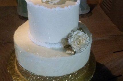 Gold Metallic Cake