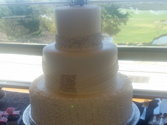 Gold 3 Tier Cake