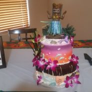 Hawaii Theme Birthday Cake
