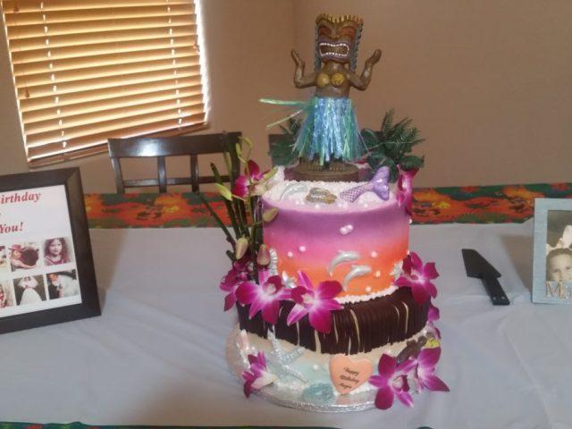 Hawaii Theme Birthday Cake