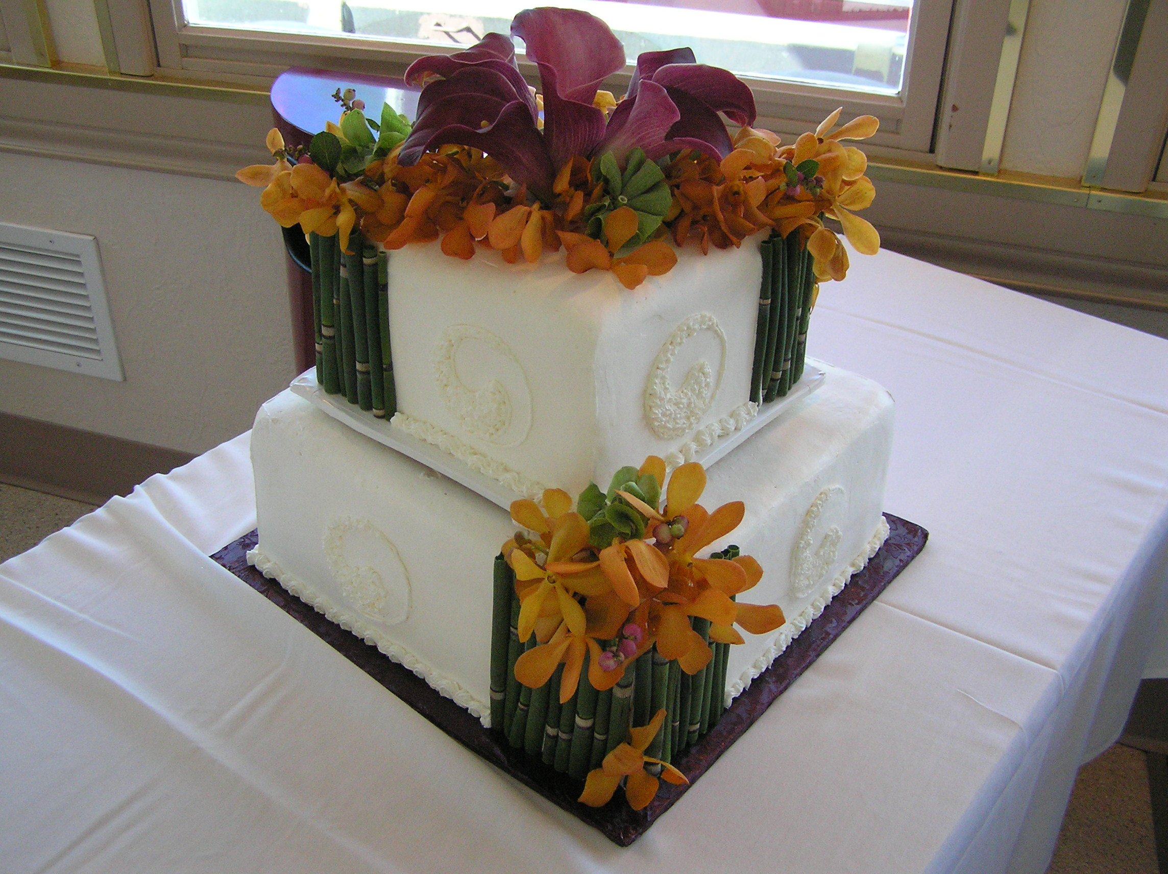 Bamboo Wedding Cake