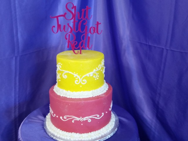 Hot Pink Wedding Cake