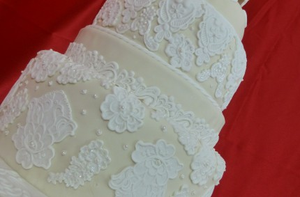 Laced Wedding Cake