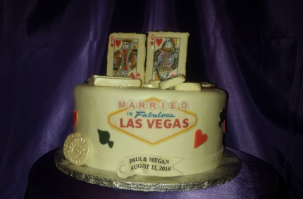 Las Vegas Married Cake