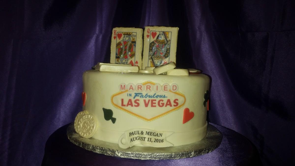 Las Vegas Married Cake