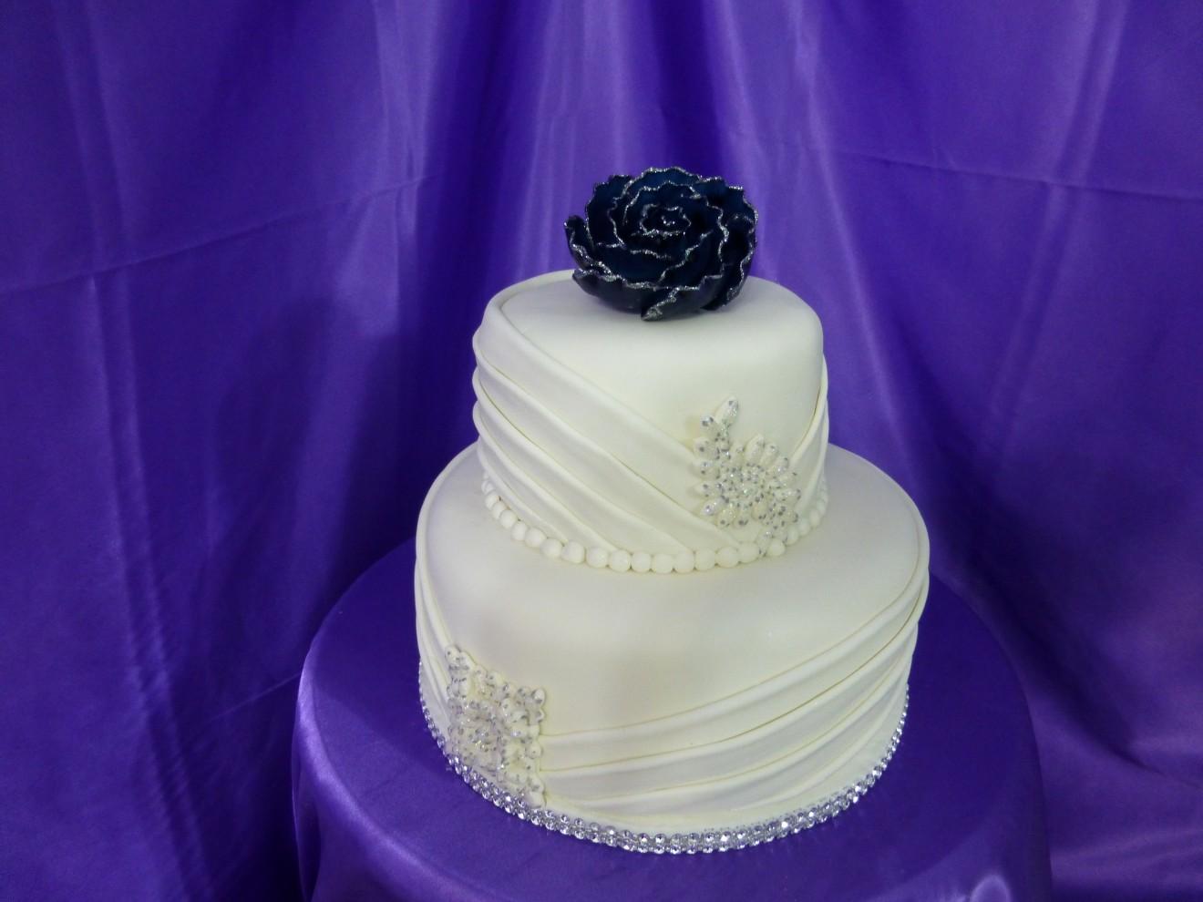 Navy Blue Cake