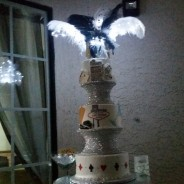 Old Vegas Wedding Cake