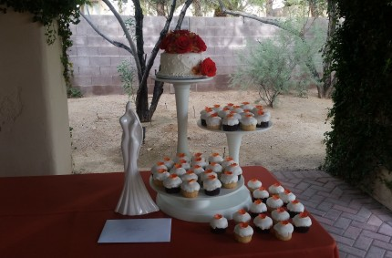 Orange Cupcake Wedding