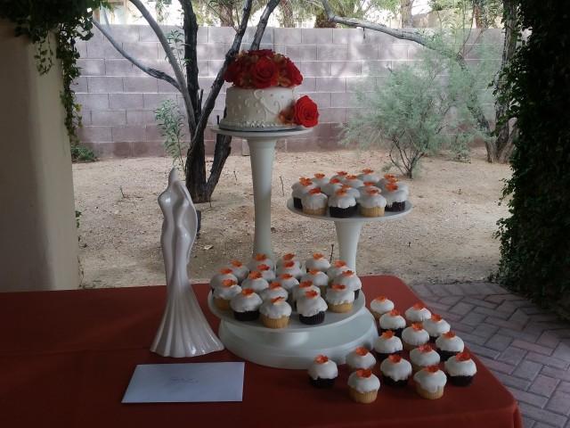 Orange Cupcake Wedding