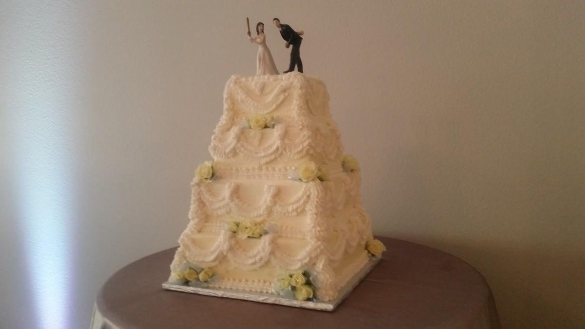 Square Buttercream Cake