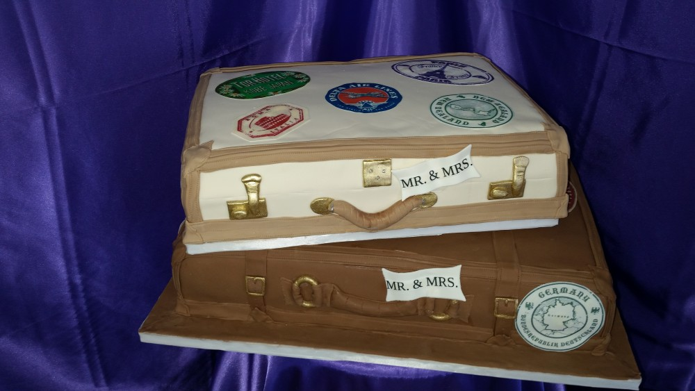 Suitcase cakes wedding