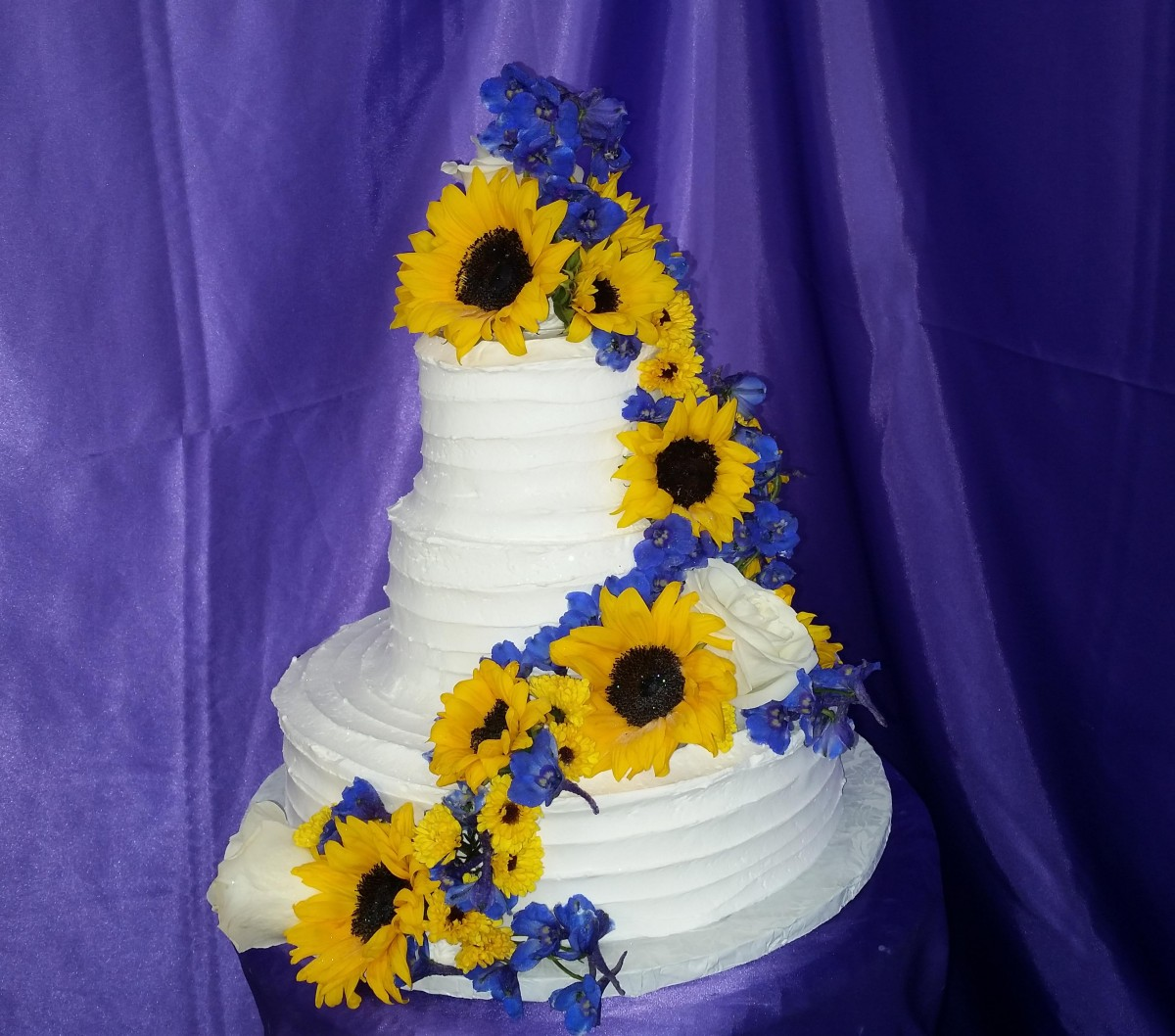 Sunflower Wedding Cake Ideas: Sunflower Wedding Cake
