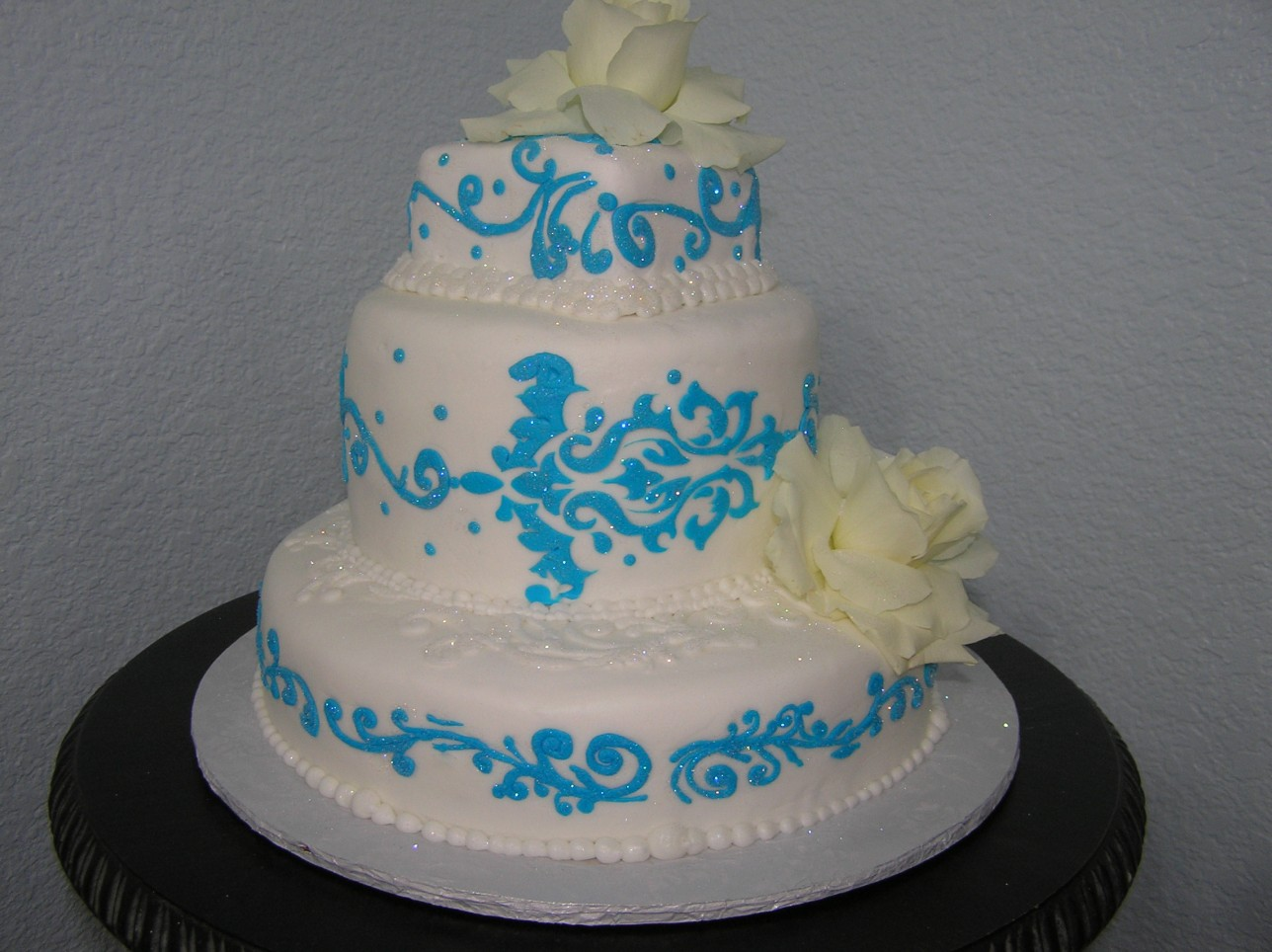 Teal Overlay Cake
