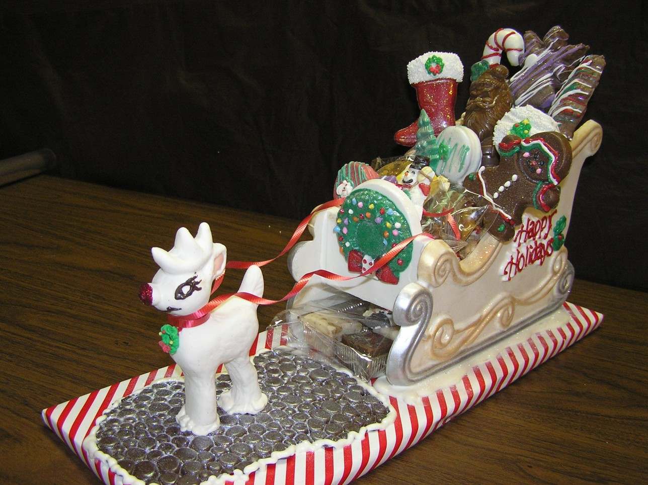 Edible Chocolate Sleigh