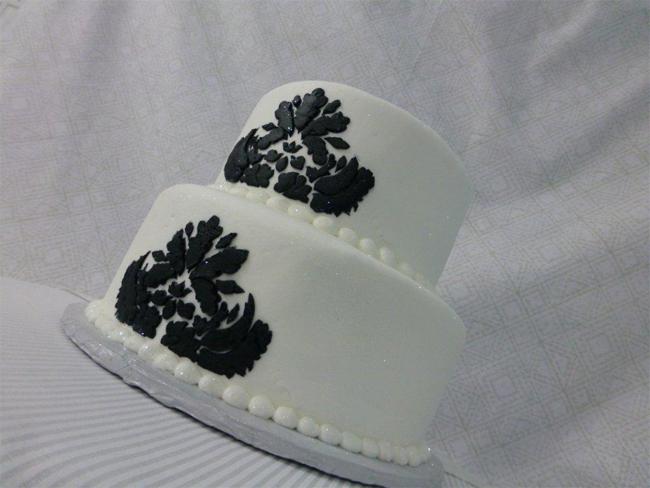 Black Damask Cake