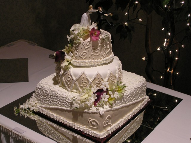 Mirrored Wedding Cake