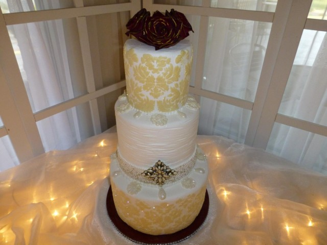 Champagne Wedding Cake