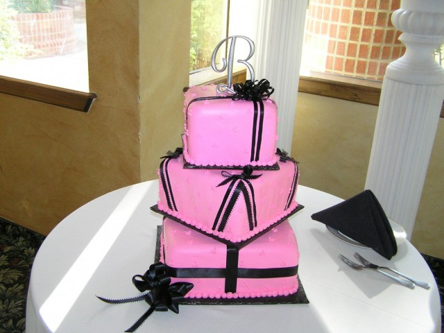 Hot Pink 3 Tiered Cake