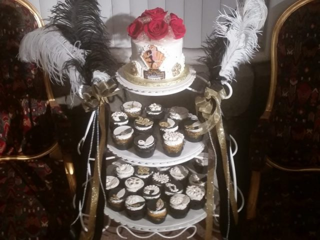Great Gatsby Cupcake Tower