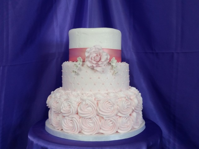 Tier Wedding Cakes With Rhinestones